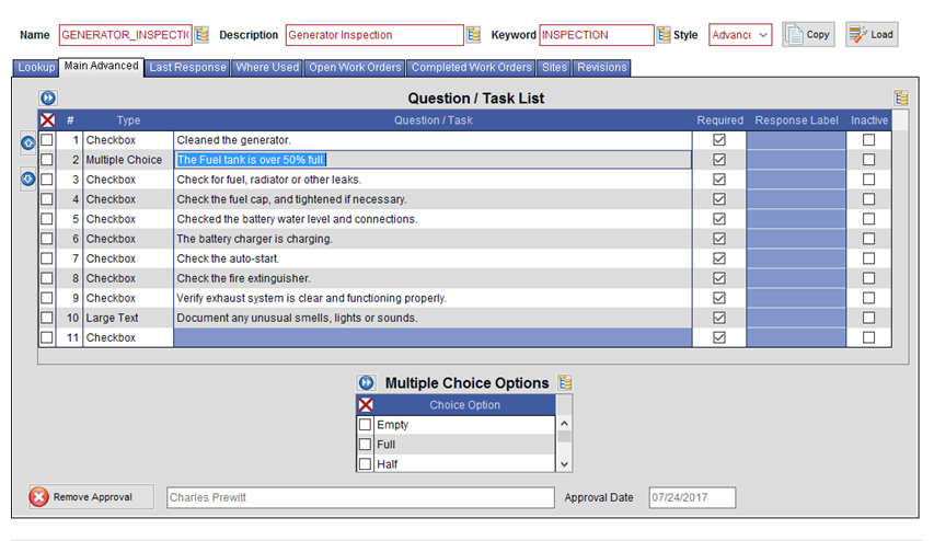 Maintenance Software: Checklists | Checklists within CMMS Software