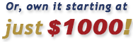 MAPCON Software starts at just $1000 to own!