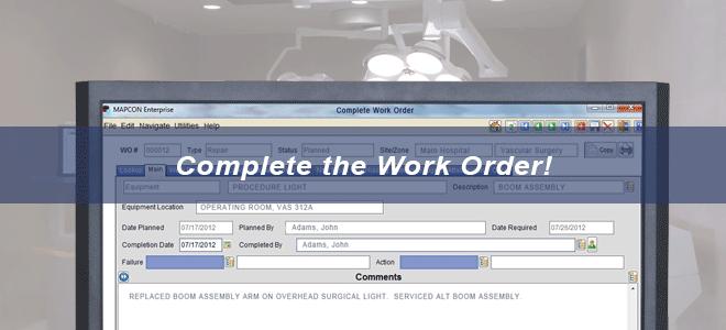 work order system for maintenance