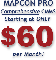 MAPCON Maintenance Software starting at only $60 per Month